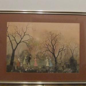 Helen Bradley– Our Picnic– framed print